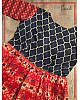 Red Soft cotton weaving design printed gown