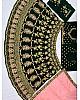 Dark green velvet heavy embroidered bridal lehenga