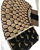 Black banglory satin golden print lehenga choli for ceremony