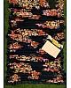 Black georgette floral printed partywear saree