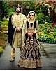 Black heavy velvet embroidered bridal wedding lehenga choli
