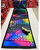 Black ultra satin multicolor printed saree