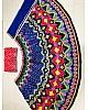 Dark blue multi digital printed ceremonial lehenga choli