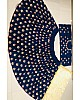 Dark blue tafeta silk beautiful embroidered Wedding lehenga choli