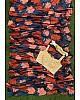 Grey chinon silk multi color flower printed saree