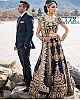Maroon velvet heavy embroidered bridal lehenga choli