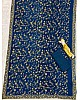 Navy blue georgette heavy embroidered wedding saree