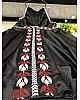 White satin embroidered western kurti