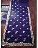 Blue georgette designer embroidered saree