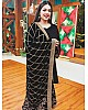 Black georgette salwar suit with heavy embroidered dupatta