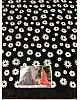 Black mono net white threadworked beautiful saree
