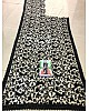 White mono net designer heavy black threadwork ceremonial saree
