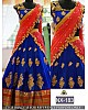 Beautiful designer heavy embroidered blue bridal lehenga