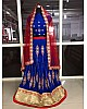blue banglori silk embroidered ceremonial lehenga