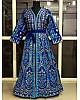 Blue tapeta silk heavy embroidered gown