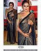 Bollywood style black smoke shiny partywear saree