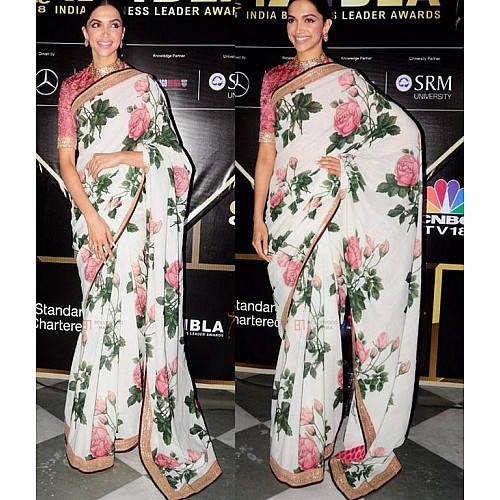 Gorgeous stylist printed ceremonial saree