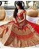 heavy embroidered red bridal wedding lehenga