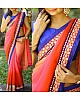 multi shaded pink colored embroidered saree
