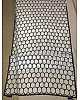 white chinon silk digital printed saree