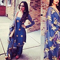 blue noora silk beautiful embroidered salwar suit