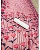 Baby pink digital printed organza saree