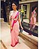 baby pink georgette partywear saree