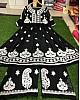 Black georgette chainstitch work plazzo salwar suit