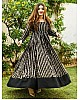 Black georgette sequence work gown