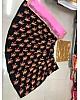 Black tapeta silk multi thread embroidered crop top lehenga