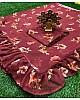 Maroon georgette floral printed partywear saree