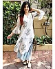 white digital printed plazzo kurti
