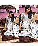 white georgette digital printed casual saree