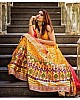 Yellow banglory satin digital printed festival wear lehenga choli