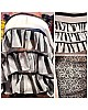 black and white strip bollywood stylist ruffle saree