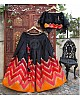 black banglori silk printed party and festival wear lehenga