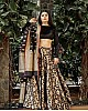 black banglory printed wedding lehenga