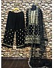 Black georgette heavy embroidered bollywood style plazzo suit