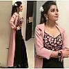 black georgette partywear indowestern lehenga with tapeta silk koti