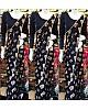 black printed georgette moti lace border partywear saree