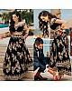 Black tapeta silk beautiful embroidered wedding lehenga