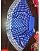 blue banglori satin printed lehenga