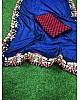 blue heavy sana silk embroidered wedding saree