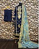 blue tapeta silk embroidered salwar suit