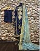 blue tapeta silk embroidered salwar suit