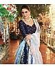 blue tapeta silk heavy embroidered wedding lehenga