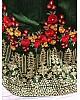 green banglory silk resham and zari thread work embroidered wedding lehenga