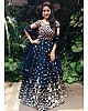 navy blue tapeta silk embroidery long anarkali suit