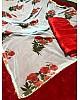 sky georgette rose printed stylist saree