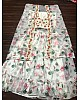 white printed georgette indowestern lehenga with shrug